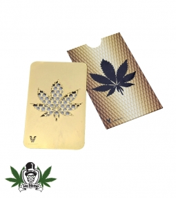 Grinder Card - Hemp Leaf (Gold)