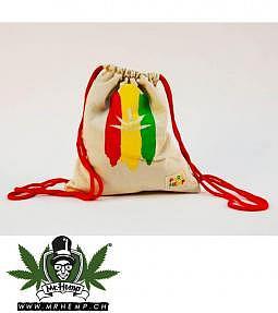 GYM Bag Pure Hemp Rasta Leaf