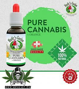 Merlins Garden Pure Cannabis +orange Liquid 10ml CBD free
