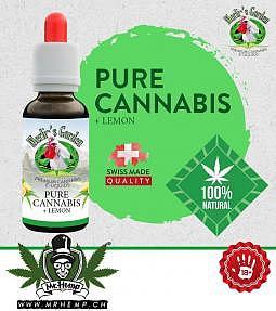 Merlins Garden Pure Cannabis +Lemon Liquid 10ml CBD free