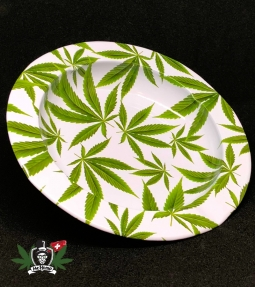 Ashtray Hemp Leaf aluminum